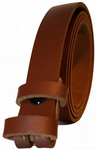 20mm Brown Snap Fit Leather Belt